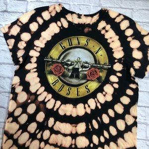 Guns N Roses Custom Tie-Dye Short Sleeve Tee- XL